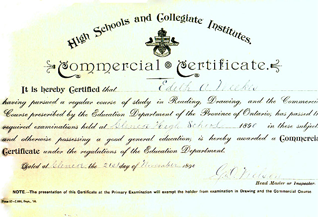 leonard family official documents  diplomas  certificates