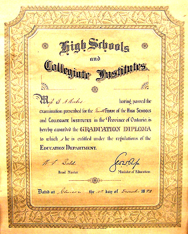 Leonard family official documents (diplomas, certificates ...